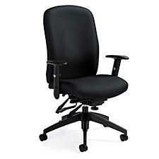 TruForm Fabric High Back Heavy Duty Ergonomic Task Chair, CH51721