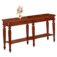 Antigua Narrow Cherry Wood Veneer Display Table, CH50208