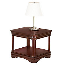 Rue de Lyon Traditional Square End Table, CH50167