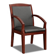 Bently Faux Leather Angled Arm Guest Chair, CH50794