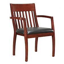 Bently Faux Leather Slat Back Guest Chair, CH50795