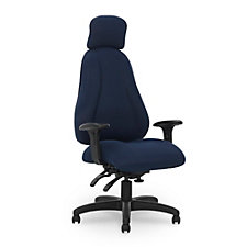 Atlas Fabric Executive Chair with Headrest and Four Paddle Control, CH50823