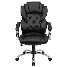Whittier Bonded Leather Button Tufted Executive Chair, CH51396