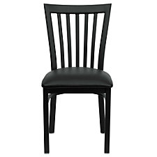 Jackson Vinyl Seat Vertical Back Cafe Chair , CH51489