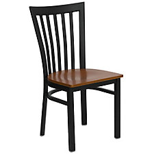 Jackson Wood Seat Vertical Back Cafe Chair , CH51490