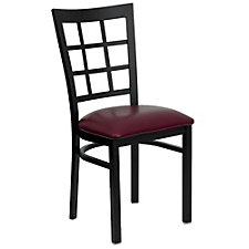 Jackson Vinyl Seat Window Back Cafe Chair , CH51491