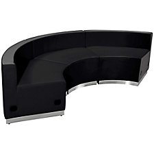 Alon Series Bonded Leather Concave Reception Seating - Three Piece Set, CH51605