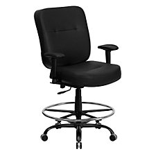 Hercules Bonded Leather Big & Tall Task Stool, CH51401