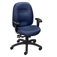 Tamiri Leather and Vinyl Mid Back Ergonomic Chair, CH50148