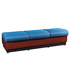 Modular Three Seat Fabric Bench, CH50340