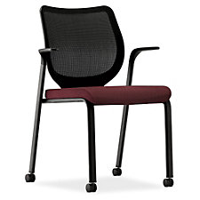 HON Nucleus Mesh Back Mobile Guest Chair with 300 lb. Weight Capacity, CH50471