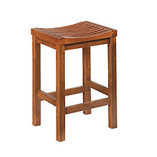 "Cottage Oak Backless Bar Stool - 24""H Seat, CH04304"