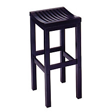 "Backless Black Bar Stool - 29""H Seat, CH04294"