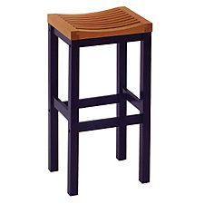 "Cottage Oak and Black Backless Bar Stool - 29""H Seat, CH04295"