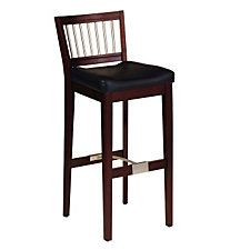 "Coffee Finish Contemporary Bar Stool - 31""H Seat, CH04296"