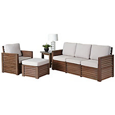 Barnside Polyester Three Seat Sofa, Arm Chair, Ottoman and End Table, CH51093