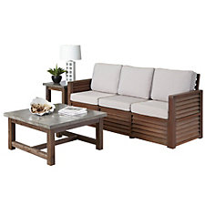 Barnside Polyester Three Seat Sofa, Coffee Table and End Table, CH51102