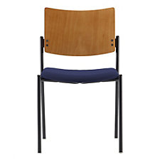 Tess Fabric Armless Stack Chair with Wood Back, CH50964