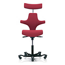 HAG Capisco Fabric Saddle Back Ergonomic Task Chair with Headrest, CH50979