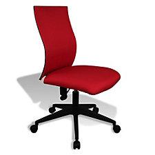 Kaja Fabric Armless Contoured Task Chair, CH50535