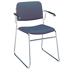 Fabric Sled Base Stack Chair with Arms, CH02487