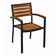 Teak and Aluminum Outdoor Arm Chair, CH04805