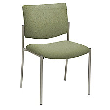 Armless Guest Chair in Fabric, Polyurethane or Faux Leather, CH51388