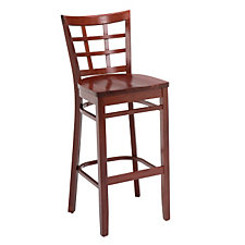 All Wood Cafe Stool with Lattice Backrest, CH04683
