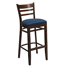Ladder Back Stool with Wood Frame, CH04687