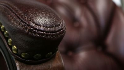 Kingston Faux Leather Chair Close Up