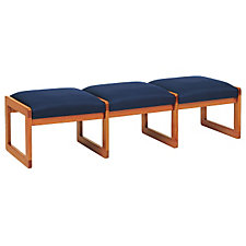 Three Seat Fabric Bench, CH02855