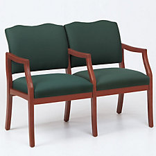 Traditional Style Two Seat Reception Chair with Center Arm, CH03272