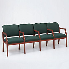 Traditional Style Four Seat Reception Chair with Center Arms, CH03278