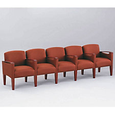 Fabric Five Seater with Center Arms, CH02715