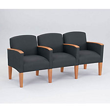 Fabric Three Seater with Center Arms, CH02724