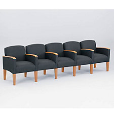 Fabric Five Seater with Center Arms, CH02726