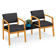 Lenox Fabric Two Chairs with Center Connecting Table, CH02883
