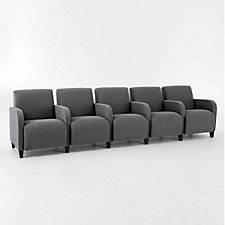 Siena Five Seat Sofa with Center Arms, CH03986