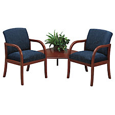 Fabric Transitional Style Two Seater with Connecting Corner Table, CH02953