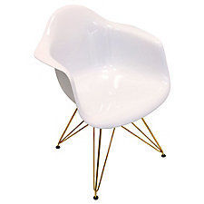Flair Retro Bucket Seat Chair with Metal Frame, CH51755