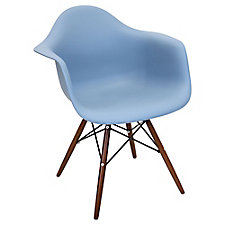 Flair Retro Bucket Style Chair with Wood Frame, CH51756