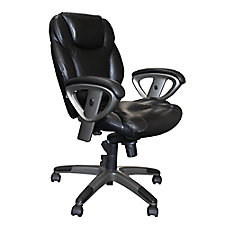 Ultimo Leather Mid-Back Ergonomic Chair, CH02880