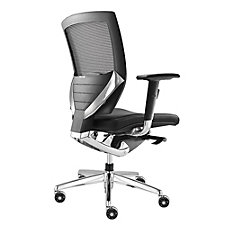 Arris Mesh Ergonomic Chair with Leather Seat, CH04949