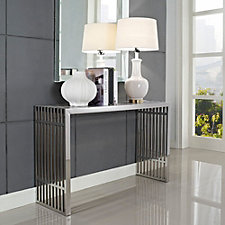 Gridiron Stainless Steel Sofa Table, CH50561
