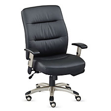 Faux Leather Heated Seat and Back Task Chair, CH51419