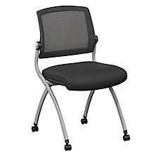 Armless Flexible Back Nesting Chair with Fabric Seat, CH51727