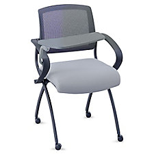 Flexible Back Nesting Chair With Fabric Seat and Tablet Arm, CH51731