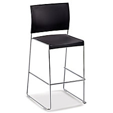 Café Stool with Chrome Frame, CH51748