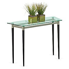 "Glass Top Sofa Table - 40""W x 15""D, CH51514"