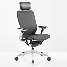 IC2 Mesh Black Shell Ergonomic Computer Chair with Headrest, CH51328